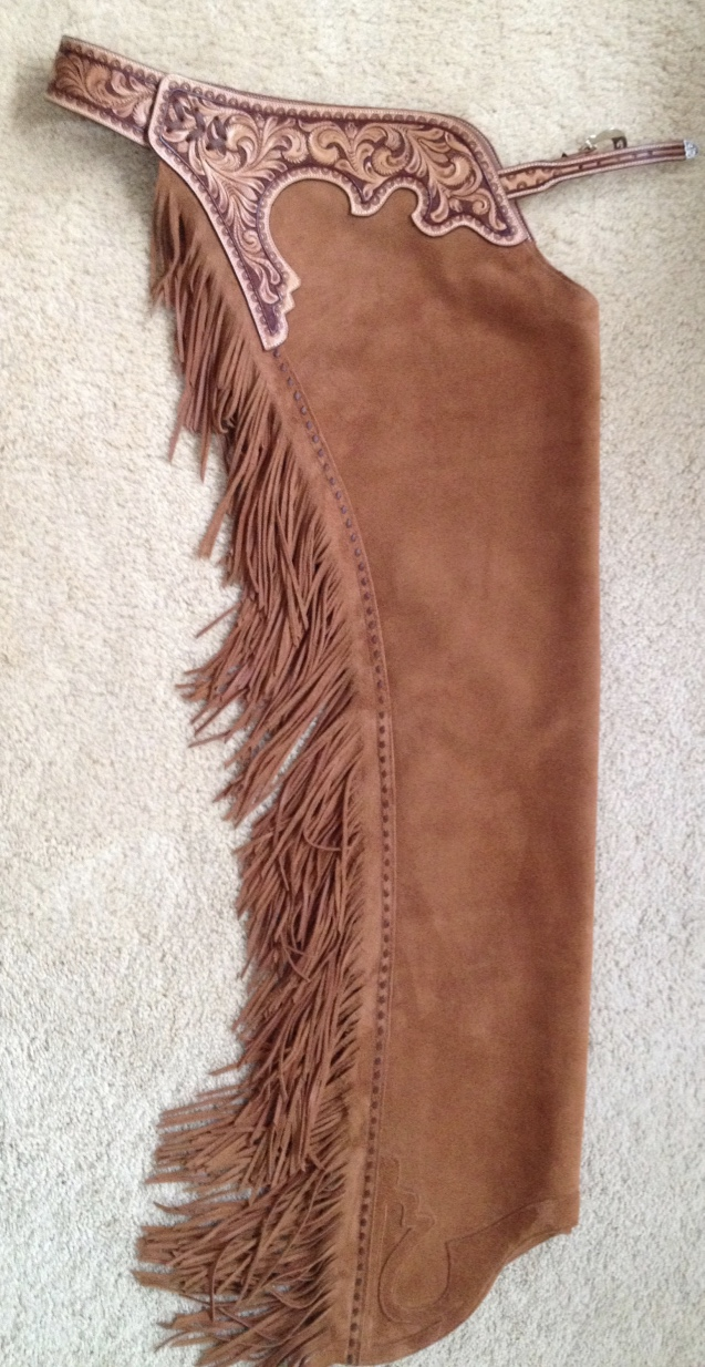 western reining  cutting horse  trail chaps by black horse