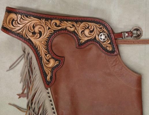 Custom made reining chaps black horse leatherworks