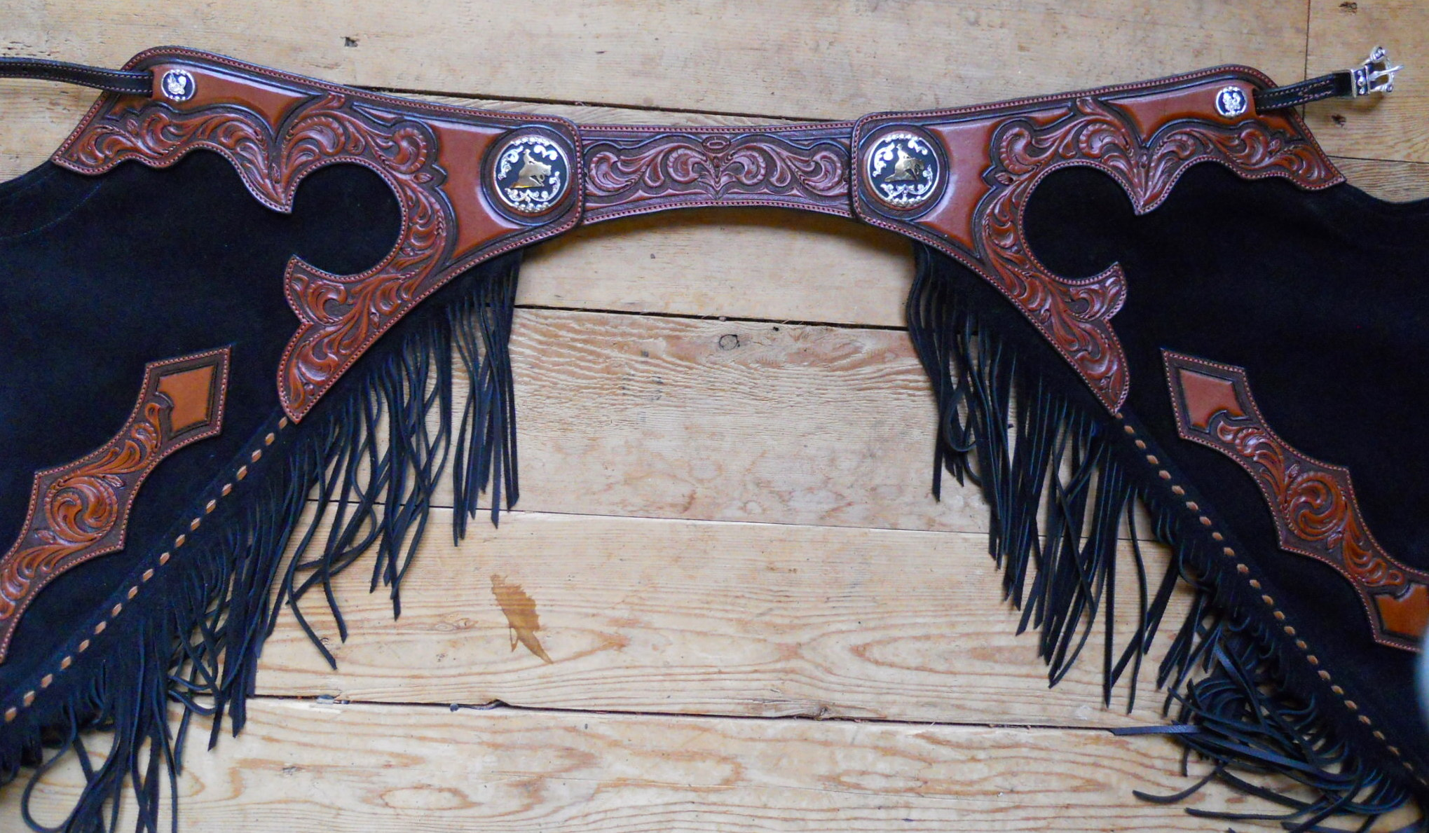 fancy custom western reining  u0026 work chaps by black horse
